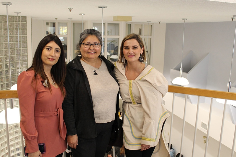 Three women at the Mamisarvik Healing Centre