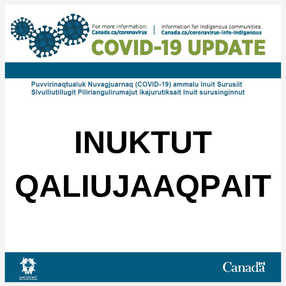 COVID-19 update - Inuktut Qaliujaaqpait